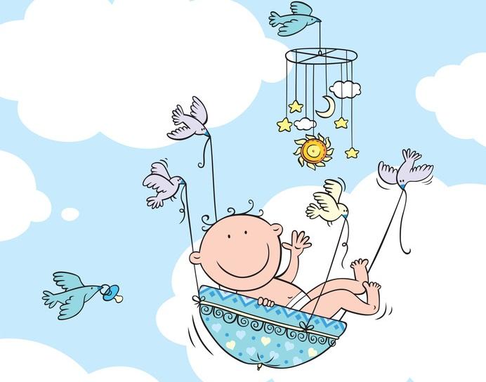 Флеш открытка на рождение ребенка