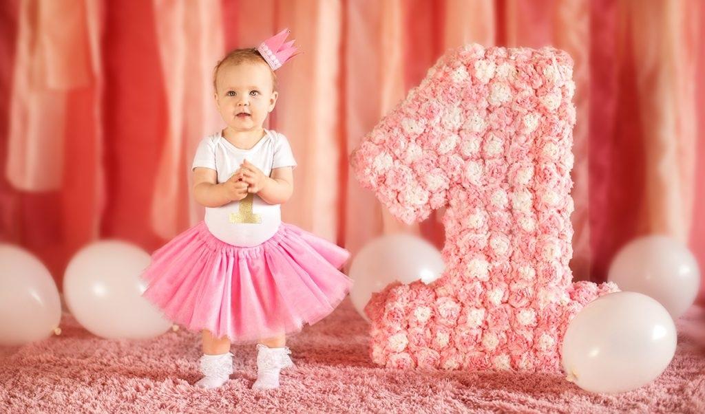 Открытки с фото девочке 1 годик, день рождения